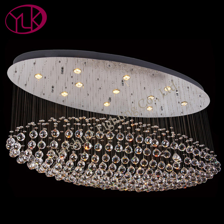 Youlaike Luxury Modern Crystal Chandelier Oval Design Living Room Flush Mount LED Crystal Lamp Lobby Hallway Lighting Fixture led crystal chandeliers lamp round ring hanging lights modern led crystal chandelier fixture for living room lobby ac110v 240v