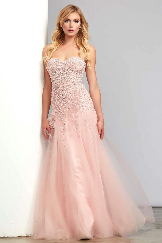 Rosa de noche vestidos elegantes largos vestidos formales de noche ...