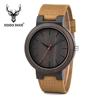 DODO DEER Watches Men Luxury Brand Japan Quartz Wood Wrist Watch Mens Leather Clock Montres Homme Drop Shipping with Box B03 2