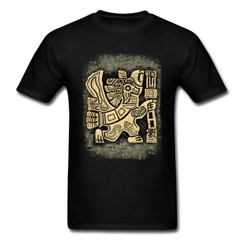 Family Aztec Eagle Warrior Crazy T Shirts Crew Neck Cotton Men Tops Shirts Short Sleeve Summer Fall Crazy Sweatshirts