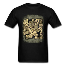 T-shirt col ras du cou homme, en coton, manches courtes, estival, automne et famille Aztec, Eagle Warrior