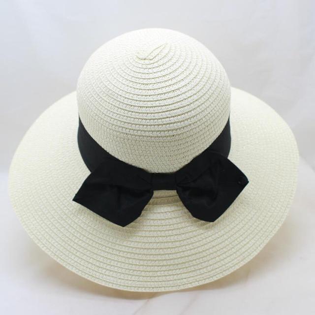 1db93e14b2fd0b BING YUAN HAO XUAN Straw Cap Ladies Summer Light Breathable Sun Shadow Sun  Hat Forked Bow