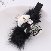 Korean Winter Hair Jewelry Fashion Women Barrettes Sweet Bear Hair Clip