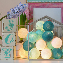 QYJSD 1,5 м/3 м/6 м хлопковый шар струнные огни милые сказочные огни наружные украшения Праздничная гирлянда Рождество круглый светильник цепь