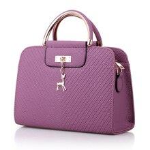 Women Bag Leather Handbag Box Shoulder Crossbody Female Cute Deer Pendant Big Elegant Lady High Quality
