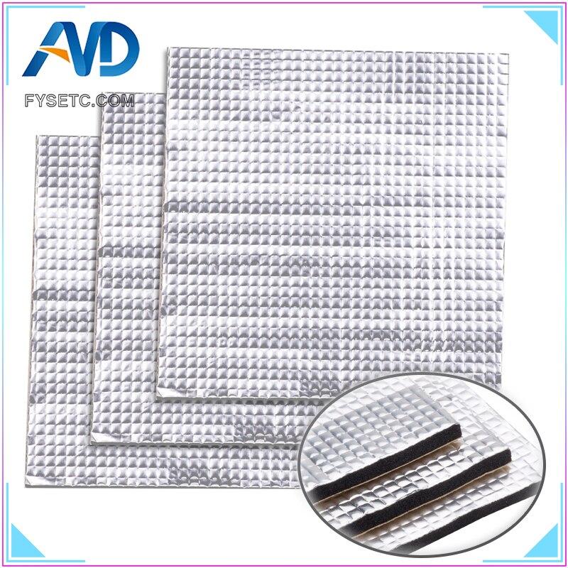 1 шт. теплоизоляция хлопок 200 мм/300 мм фольга самоклеющаяся изоляция хлопок мм 10 мм толщина 3d принтер Отопление кровать наклейка
