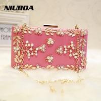 Luxury Crystal Clutch Evening Bag White Rose Flower Party Purse Women Wedding Bridal Phone Handbag Pouch
