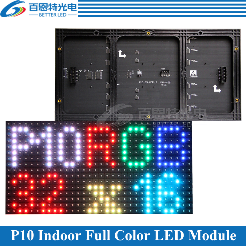 P10 LED Screen Panel Module Indoor 320*160mm 32*16pixels 1/8 Scan SMD3528 RGB Full Color P10 LED Display Panel Module