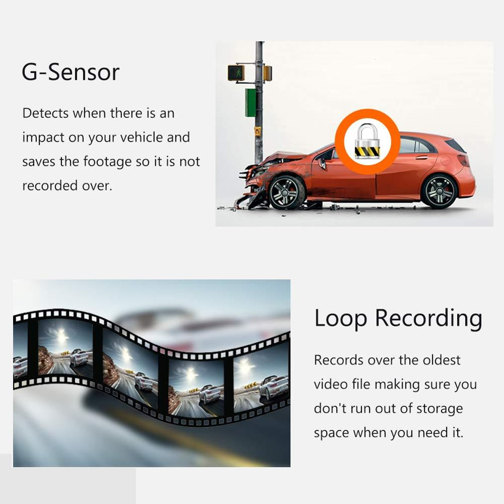 Image 5 - RUCCESS CAR DVR Full HD 1080P Dash Cam with WIFI Car Camera Recorder 24H Parking Monitor Night Vision English/Russia Version-in DVR/Dash Camera from Automobiles & Motorcycles