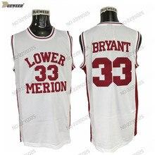cefdd69c7 DUEWEER Mens Lower Merion Kobe Bryant High School Basketball Jerseys  Vintage White 33 Kobe Bryant HS