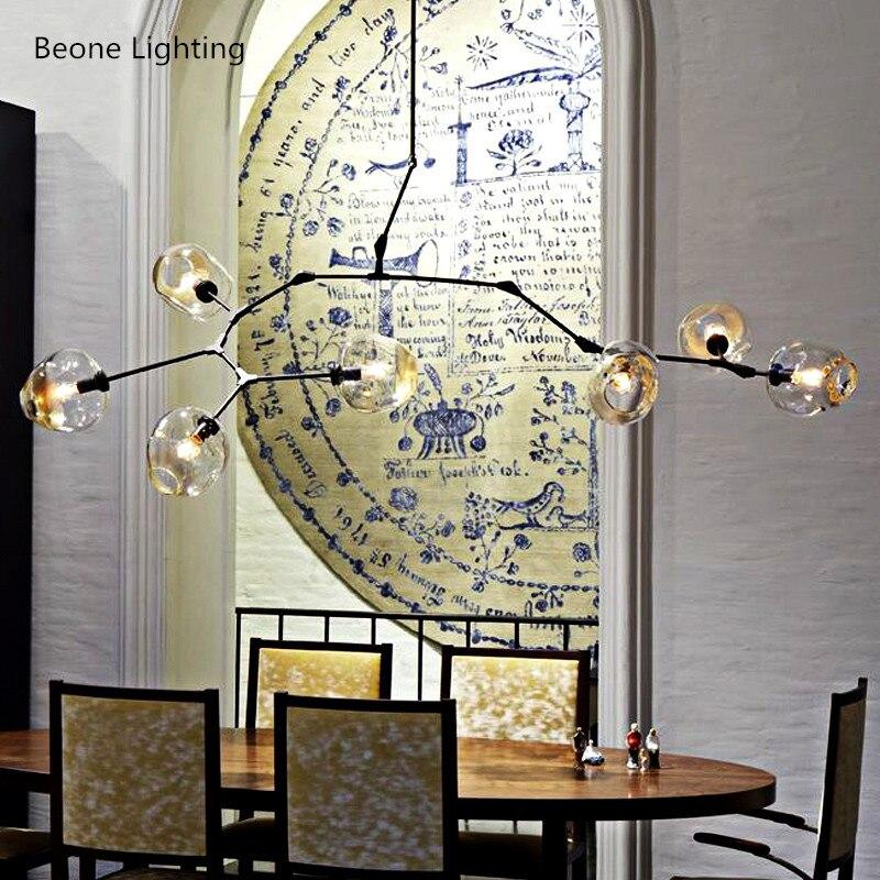 купить Vintage Loft Industrial Pendant Lights Black Gold Bar Stair Dining Room Glass Shade Retro Lindsey adelman Pendant Lamp Fixtures недорого