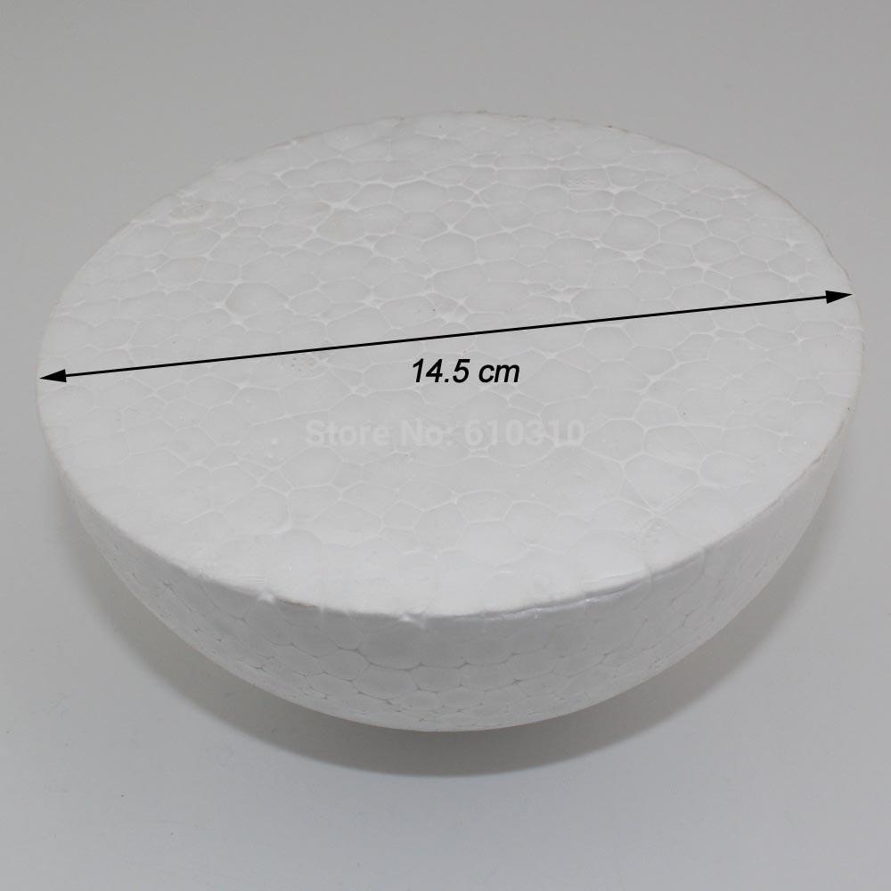 ЦЦИНЕЕ велепродаја 14.5цм природна бела стиропор пола лоптице Црафт лопта пена лопта дии ручно осликана лопта (16пцс / лот)