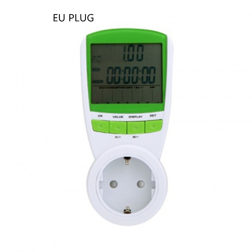 Digital Energy Meter Watt Voltage EU Plug Power Meter Watt Volt Amp Frequency 230V 50Hz Monitor Analyzer Energy Meter Wattage цена