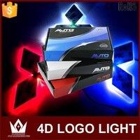 Guang Dian Free Shipping Front Car Emblem Light 4d Car Badge Auto Led Logo Light EL