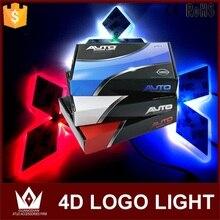 Tcart 1 компл. автомобиля светодиодный свет спереди автомобиль эмблема фары 4D значка автомобиля Авто Светодиодный лампочки EL холодный логотип лампы для Mitsubishi ASX для CUV
