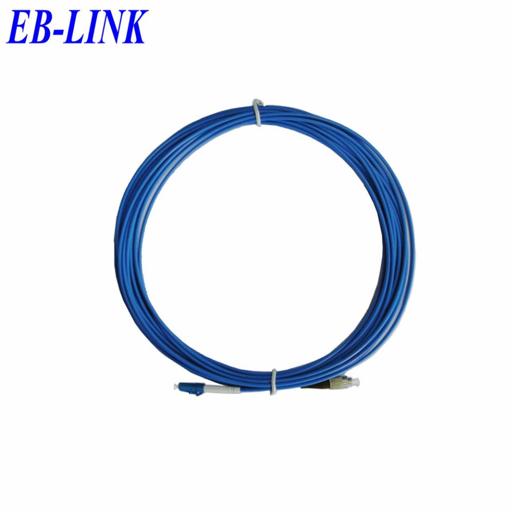 Крытый бронированных 10 м LC / PC-FC / pc, 3.0 мм, Одномодовый 9/125, Симплекс, Оптический кабель, Sm58-lc патч-шнуру