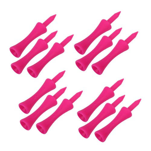 JHO-100 Pieces Golf Tee Overlays Hot Pink T SN006 60MM