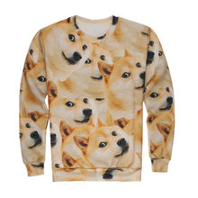 3d Doge Dogs Head Printed Pullovers Funny Couple Sweatshirts