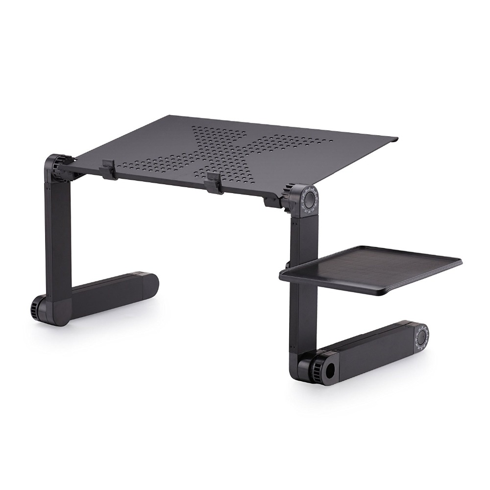 Portable Folding Laptop Stand Aluminum 360 Degree rotation Notebook PC table Stand With Mouse Pad Si