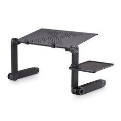 Przenośna składana podstawka do laptopa aluminium 360 stopni obrót Notebook PC podstawa stołu z myszką rozmiar podkładki 42cm * 26cm Biurka na laptopy Meble -