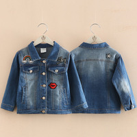 Baby Girls Denim Jacket Jeans Jackets For Girl Baby Denim Jackets Girls Jean Jacket Red Mouth