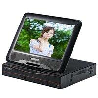 ЮСА видеонаблюдения Мини DVR 8 Ch 1080 P цифровой видео Регистраторы с 10,1 ЖК дисплей экран 8CH аналоговая камера высокого разрешения цифровой виде
