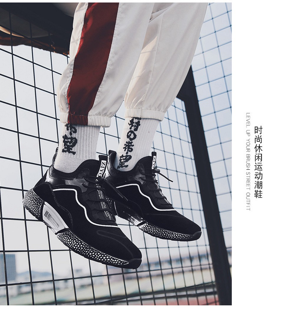 MUMUELI Gray Black Leather 2019 Designer Casual Breathable Shoes Men High Quality Fashion Luxury Ultra Boost Brand Sneakers L771 15
