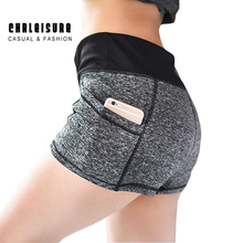 CHRLEISURE S-XL Woman's Short Patchwork Pocket Elestic Stretch Mid Waist Cotton Slim Skinny Workout Leisure Elastic Shorts Women
