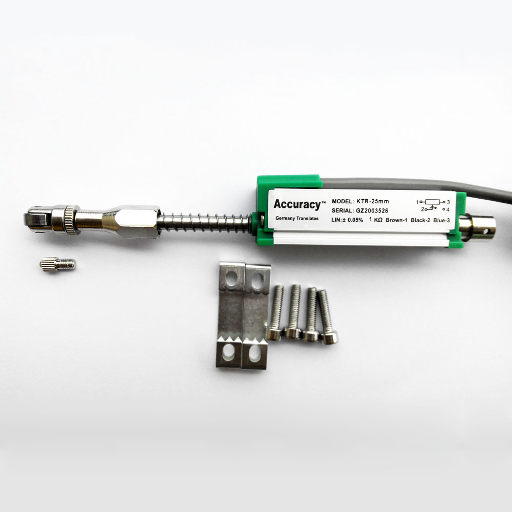 Датчик линейного перемещения электронная линейка миниатюрная пружина автоматический сброс KTR Тип 25 100 мм шкала преобразователя смещения