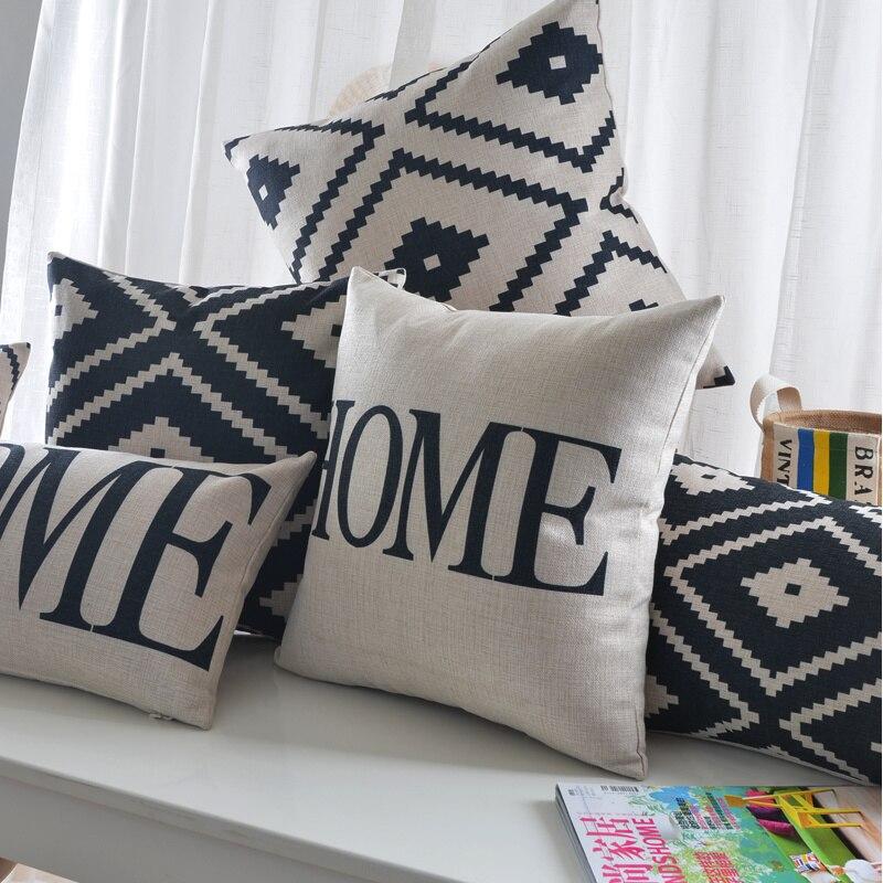 Наволочка для подушки с геометрическим рисунком, украшение для дома в скандинавском стиле, 30 х50 см, декоративные подушки, Прямая поставка