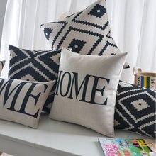 Geométrico capa de almofada preto branco nórdico decoração para casa personalizado capa de almofada 30*50cm almofadas decorativas dropshipping lance travesseiros
