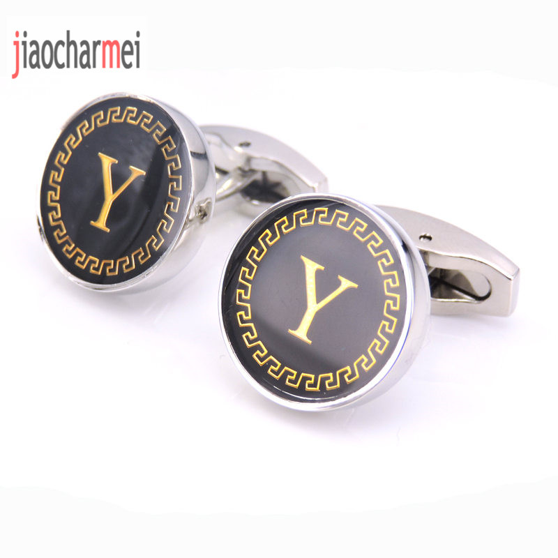 High quality mens fashion jewelry brand Cufflinks classic style name letter Y cufflinks, French shirt sleeve button