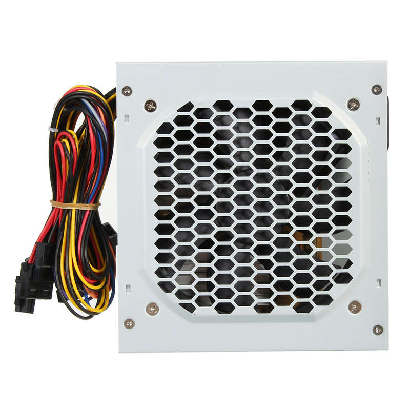 High Quality Computer PC CPU Power Supply 20+4-pin 120mm Fans ATX Computer PC Power Supply PCIE w/ SATA