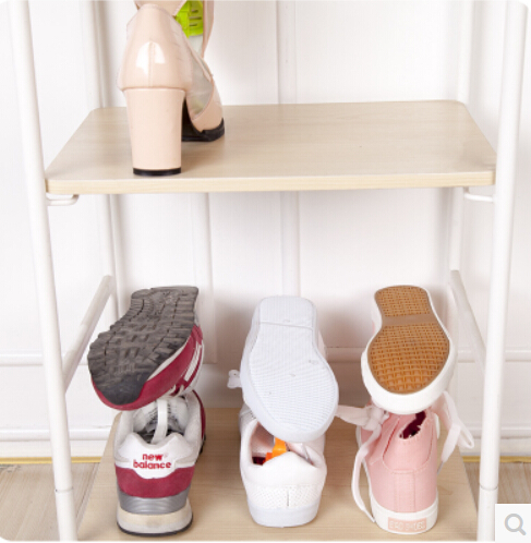Folding Anese Double Sorting Shoe Rack Height Adjule Stand To Simple Three Dimensional Receive Plastic Shoes In Storage Holders Racks