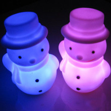 2017 Light Up font b Toys b font Hot Sell Colorful Changing LED Snowman Christmas Decorate