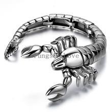 9″ Scorpion Animal bracelet 316L Stainless Steel Mens Boys Chain Bangle Bracelet Wholesale Jewelry Halloween Christmas Gift