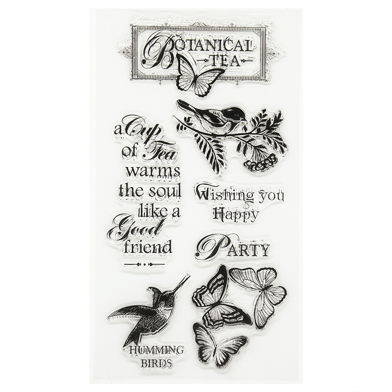 New arrival stencil diy scrapbooking clear stamp butterfly wishing you happy  for wedding paper card christmas gift TM-049 new arrival stencil diy scrapbooking clear stampowl and trees leaves for wedding paper card christmas gift cc 190