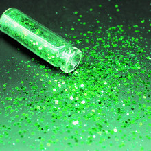 1 бутылка зеленые голографические блестки мерцающие алмазные глаза блестящая кожа хайлайтер лицо блеск фестиваль макияж блестящий#004
