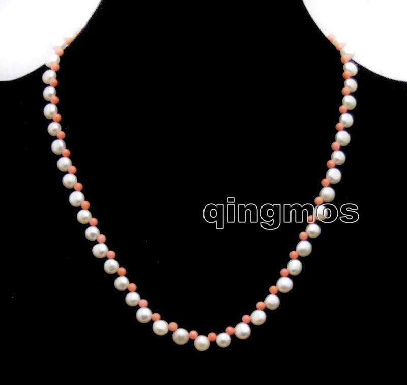 Jewelry & Accessories Chain Necklaces Humble Small 5-6mm Pink Flat Round Side Drilled Natural Fw Pearl And 3-4mm Pink Coral 17 Necklace-nec6396 Delicious In Taste