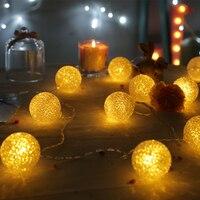 20Led Fada Bateria Operado Luz Da Corda Bola de Cristal Transparente 3 m Decoração LED Para O Natal Guirlanda Ano Novo gerlyanda