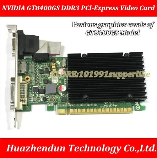 DEBROGLIE 1PCS Brand New NVIDIA GeForce 8400GS DDR3 PCI-E Desktop Graphics Video Card yeston sound free nvidia gt710 1g video card ultra hd gt710 1g ddr3 graphics card for desktop 2 years warranty