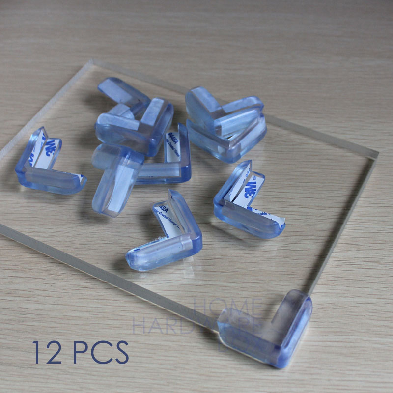 12 Pcs Corner Protector Glass Table Top Edge Safety Soft Rubber Cover Self  Adhesive