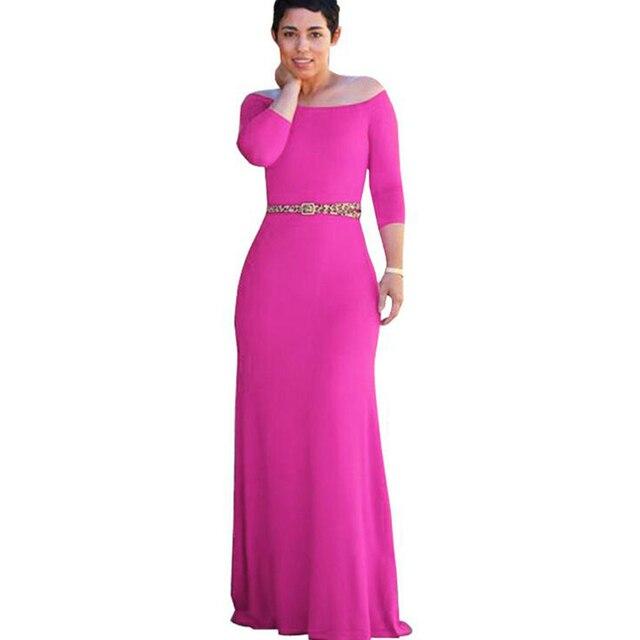 Aliexpress.com: Comprar Off hombro bodycon maxi dress mujeres de ...