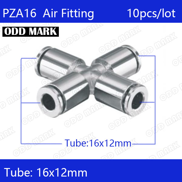Free shipping 6pcs/lot 16mm , PZA16,304 Stainless Steel Straight Push Connector цена