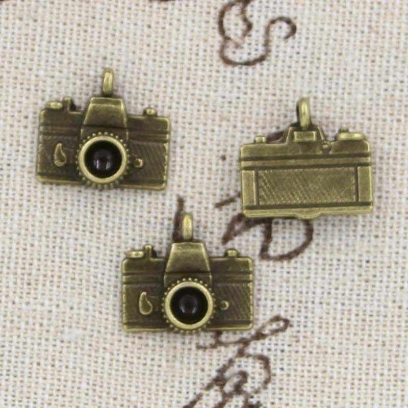 8 шт. амулеты камеры 15x14 мм античный изготовление кулон подходит, винтажный Тибетский Бронзовый серебристый, DIY браслет ожерелье