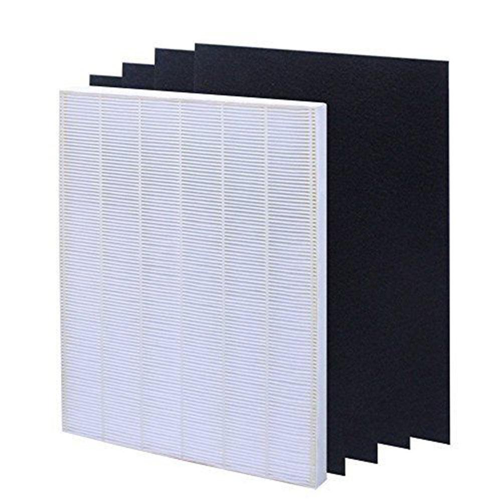 Air Filter Element Set For HEPA Air Filter Screen+ 4 Replacement Activated Carbon Filters Winix 115115