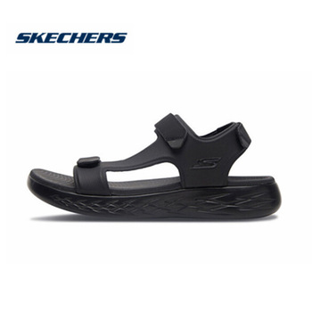 Skechers Sandals Men Comfortable Breathable Beach Light Flat Brand Luxury Summer High Quality 55366-BBK