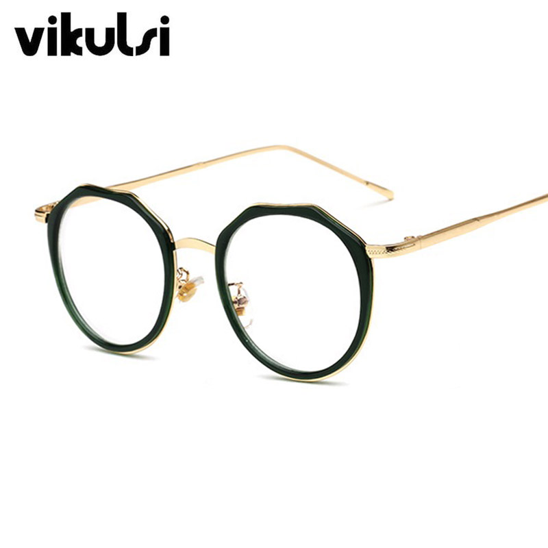 2017 Luxuy Brand Designer Round Clear Glasses Women Transparent ...