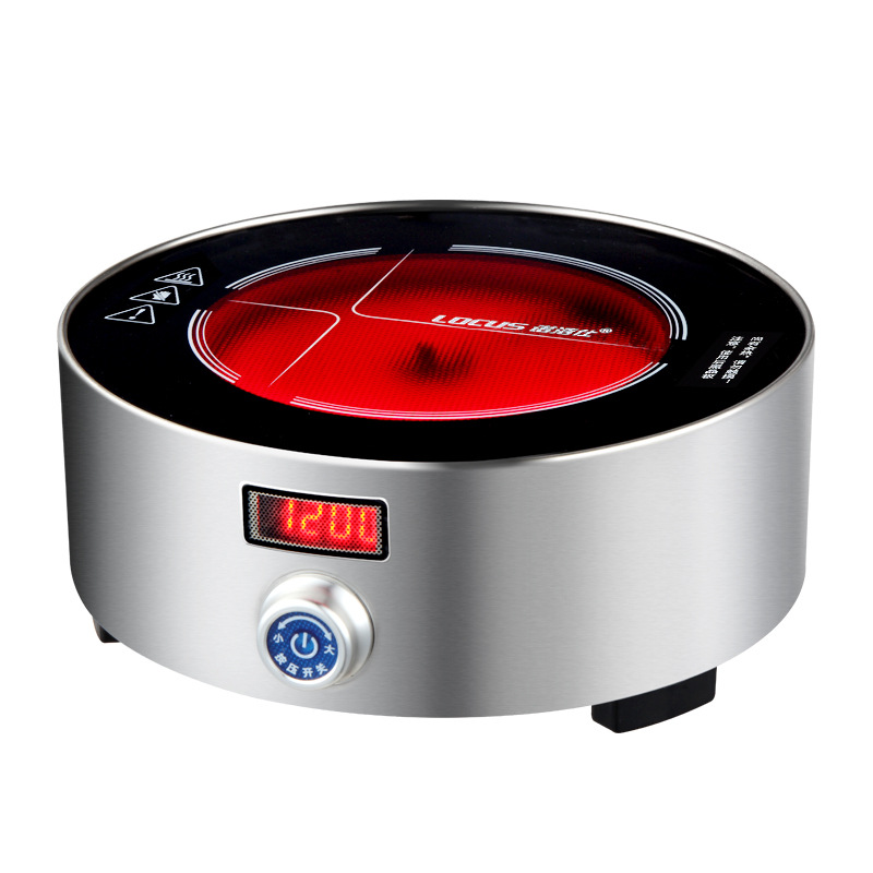 AC220 240V 50 60hz mini electric ceramic stove boiling tea heating coffee 1200w power 12 files can timing 3hours - 4