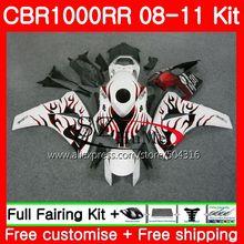 Bodys For HONDA CBR1000 RR CBR 1000 RR 08 11 TOP red flames 59HS12 CBR1000RR 08 09 10 11 CBR 1000RR 2008 2009 2010 2011 Fairings